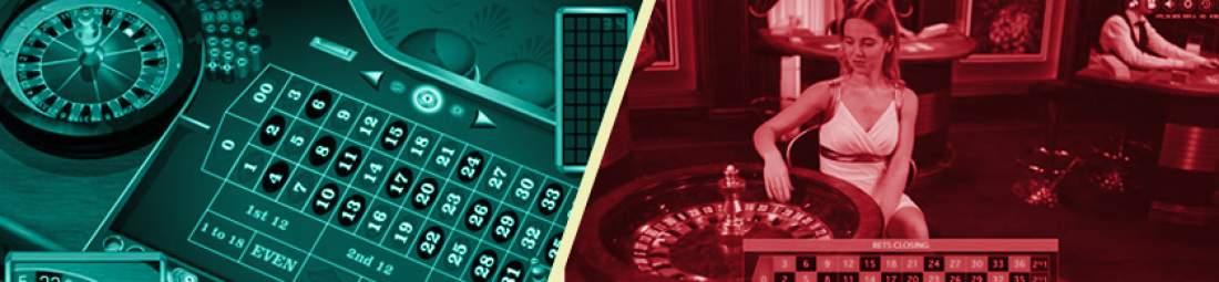 Roulette en ligne et roulette en direct